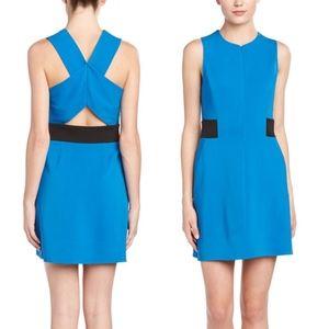 A.L.C. Blue and Black bandage Lucia A-Line Dress